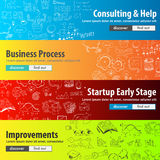 Flat Style Design Concepts for business strategy and career Royalty Free Stock Photo