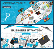 Flat Style Design Concepts for business strategy, finance, brainstorming Stock Images