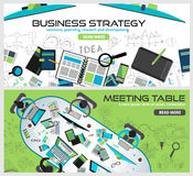 Flat Style Design Concepts for business strategy, finance Royalty Free Stock Images
