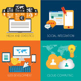 Flat Style Diagram, Infographic and UI Icons Royalty Free Stock Photo