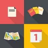 Flat style documents icon Royalty Free Stock Photography