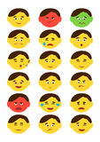 Flat style, emotion icons, set. Vector Stock Images