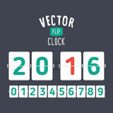 Flat style flip clock Stock Images