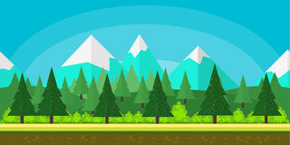 Flat style game background. Game background flat Style 2d game application. Vector Illustration for your application , project Royalty Free Stock Photo
