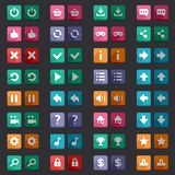 Flat style game icons buttons icons, interface Royalty Free Stock Photo