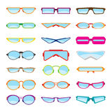 Flat Style Glasses Royalty Free Stock Images