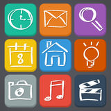 Flat style icon set Royalty Free Stock Photography