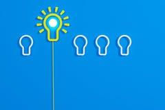Flat style idea light bulb concept Stock Images