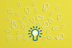 Flat style idea light bulb concept Stock Image