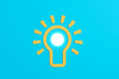 Flat style idea light bulb concept Royalty Free Stock Images