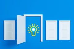 Flat style idea light bulb concept Stock Photography