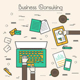 Flat style illustration of Business Consulting. Royalty Free Stock Photography
