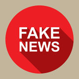 Fake news. A flat style illustration of icon with the text 'fake news Stock Photo