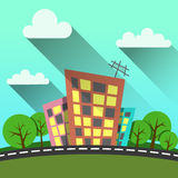 Flat style illustration modern city Stock Photo