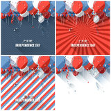 Flat style Independence day backgrounds Royalty Free Stock Image