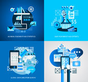 Flat Style Infographic UI Icons to use for your business project Stock Photos