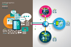 Flat Style Infographic UI Icons to use for your business project Royalty Free Stock Photos