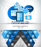 Flat Style Infographic UI Icons to use for your business project Royalty Free Stock Photography