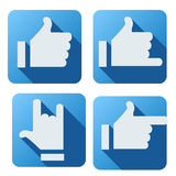 Flat style of like button for social networking Stock Photography