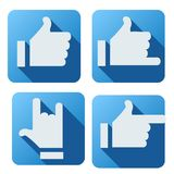 Flat style of like button for social networking Stock Images