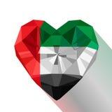 Flat style logo symbol of love Emirates. Royalty Free Stock Images