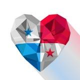 Flat style logo symbol of love Panama. Royalty Free Stock Photography