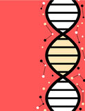 Flat style minimalist poster with DNA strand Stock Photo
