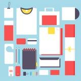 Flat style mockup design templateign Stock Photography