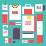 Flat style mockup design templateign Royalty Free Stock Images