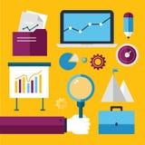 Flat style modern business strategy planning Stock Photo