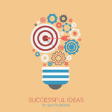 Flat style modern idea innovation light bulb infographic concept Royalty Free Stock Image