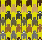 Flat style monkeys seamless pattern. Stock Photos