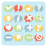 Flat Style Navigation Icons Speech Bubbles Stock Photo