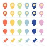 Flat Style Navigation Markers Set Stock Image