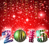 2015 flat style  new year modern background. Original 2015 flat style  new year modern background with 3D style earth and soft shadows Royalty Free Stock Images