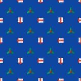 Flat style new year seamless pattern Royalty Free Stock Image