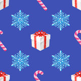 Flat style new year seamless pattern Royalty Free Stock Images