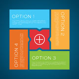 Flat Style Options Vector Background Royalty Free Stock Images