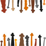 Flat style paws - vector background. Royalty Free Stock Images