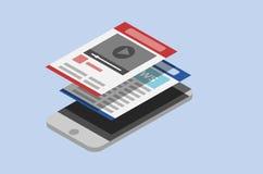 Flat Style Phone vector illustration