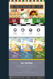 Flat style pizza menu concept Web site design Royalty Free Stock Photos