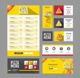 Flat style pizza menu design. Document template. Stock Photos