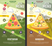 Flat style pizza menu design Stock Images