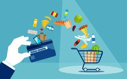 Colorful flat design for consumerism royalty free illustration