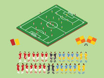 Flat Style Soccer Tactic Table. Vector Illustration.  Isometric Stock Photography