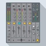 Flat style sound dj mixer illustration Royalty Free Stock Image