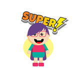 Flat style superhero character Royalty Free Stock Photos