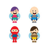 Flat style superhero character Stock Photo