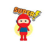 Flat style superhero character Royalty Free Stock Photography