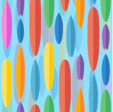 Flat style surfing boards seamless pattern Stock Photos